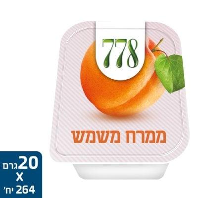 ממרח משמש 778 גביעונים 20 גרם -