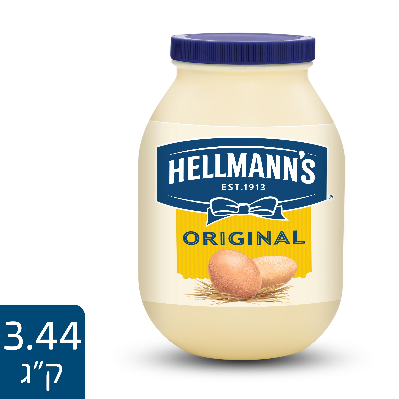"""הלמנ'ס ORIGINAL צנצנת 3.44 ק""""ג - לשכבה מושלמת של טעם השומרת על הכריך רענן לאורך זמן"""