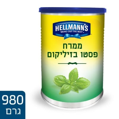 "ממרח פסטו בזיליקום  הלמנ'ס פחית 1 ק""ג -"
