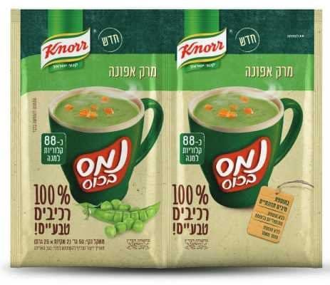 נמס בכוס מרק אפונה 100% רכיבים טבעיים קנור 24 גרם -