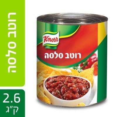 """רוטב סלסה  עגבניות עשיר קנור פחית 2.6 ק""""ג -"""