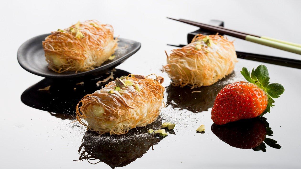 רול קדאיף עם אפרסקים ואגסים – פוקי בול מתכון להכנת קערת פוקי, מזון רחוב של הוואי אצלכם בצלחת > מתכוני השראה לשפים
